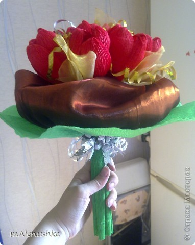 Тюльпаны учительнице. Первый заказ :) фото 2