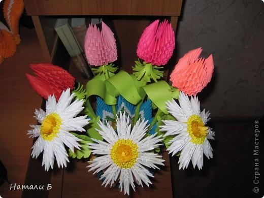 Букет цветов и ваза фото 1
