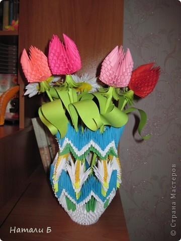 Букет цветов и ваза фото 2