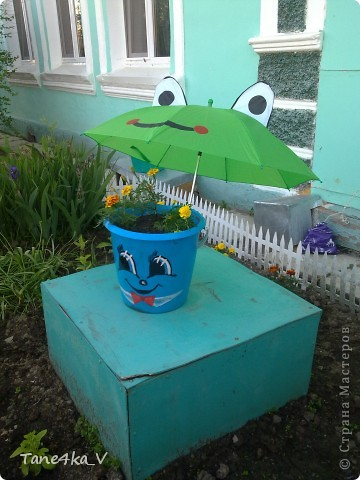 Продолжаю делиться с вами садовыми поделками! Как мама украшает наш сад :) фото 2