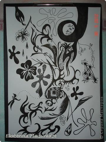 Еще одно мое художество. Материал: бумага, гелиевая ручка черная. http://stranamasterov.ru/node/352928