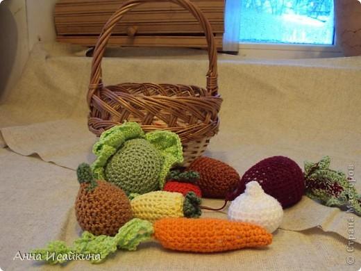 Такие овощи я связала сыну в детский садик. фото 1