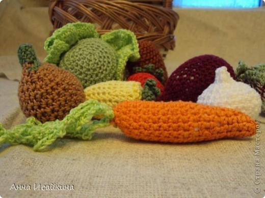 Такие овощи я связала сыну в детский садик. фото 2