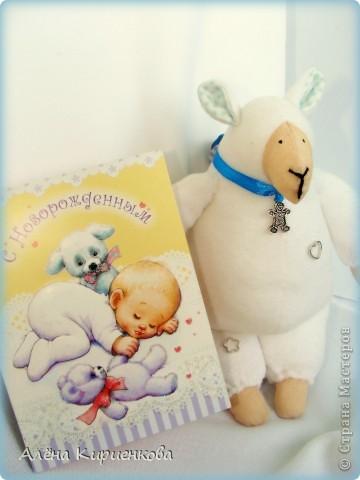 Барашек был сшит в подарок малышу Никитке *=) фото 2