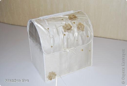 Сундук для денег, подаренных на свадьбе.
