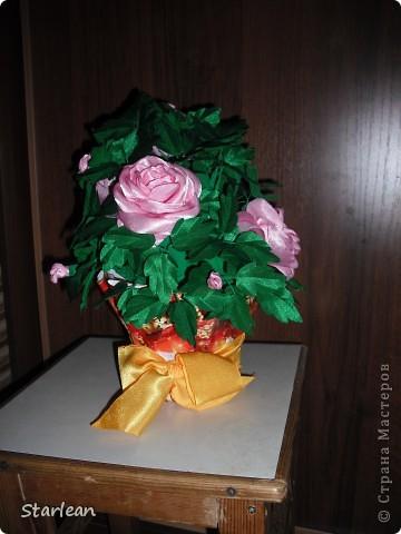 вот такой горшочек с розами я делала подруге на день рождения фото 1
