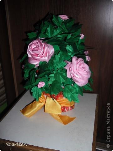 вот такой горшочек с розами я делала подруге на день рождения фото 2