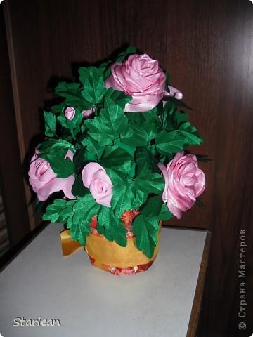 вот такой горшочек с розами я делала подруге на день рождения фото 3