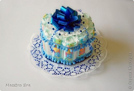 А такой тортик был подарен новорожденному мальчишечке!