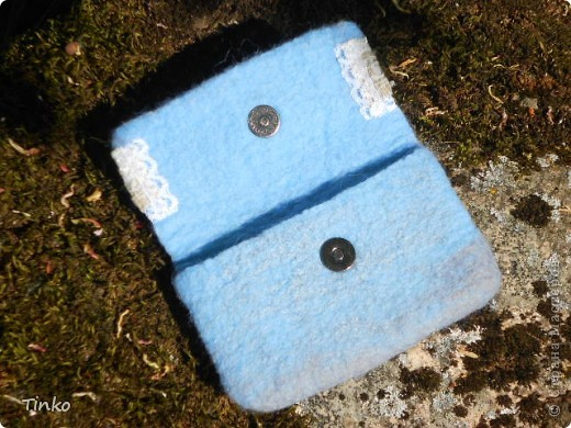Кружевной чехол для телефона. Свалян из тонкой шерсти, очень мягкий... с вискозными волокнами... фото 2