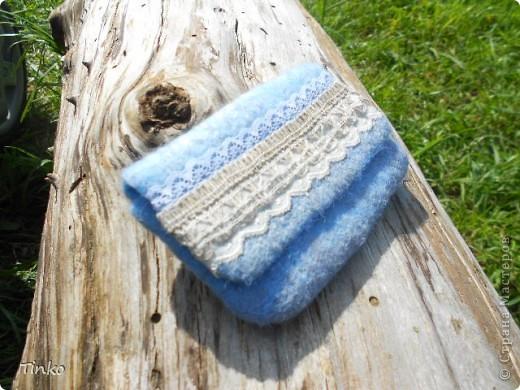 Кружевной чехол для телефона. Свалян из тонкой шерсти, очень мягкий... с вискозными волокнами... фото 3
