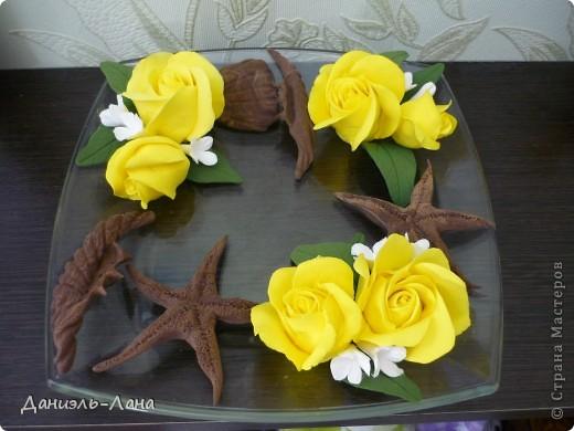 ваза розы и морские жители фото 1