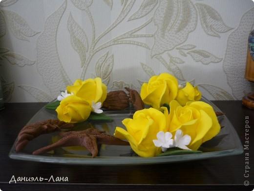 ваза розы и морские жители фото 2