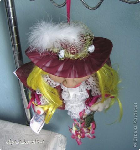 """Это кукла-попик. В студенческие времена пели такую песенку: """"Придите на цветы взглянуть - всего одна минута, приколет вам цветок на грудь цветочница Анюта. фото 4"""