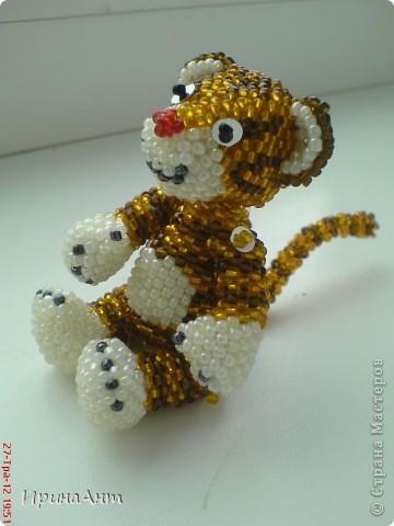 Этот тигренок сделан по МК  Ульяны Волховской, за что ей огромное спасибо фото 2