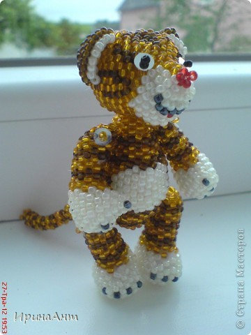 Этот тигренок сделан по МК  Ульяны Волховской, за что ей огромное спасибо фото 3