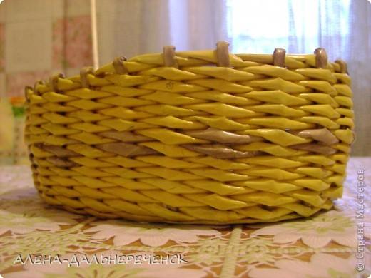 Вот накрасила трубочки и сплела  корзиночку под хлеб. фото 2