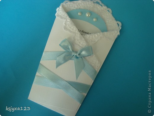 Денежный конверт на крестины (мастер класс http://scrap-info.ru/myarticles/article_storyid_382.html) фото 1