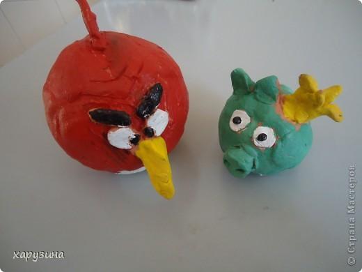 Angry Birds- герои компьютерной игры из глины фото 1