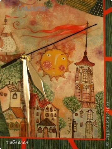 """Вот такие часы получились. В основе - картина Анны Силивончик """"Берега"""". фото 5"""