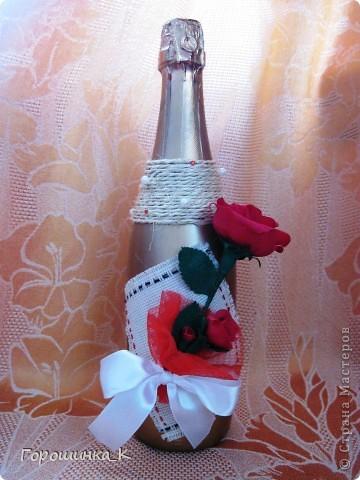 Бутылка с розой фото 1