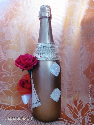 Бутылка с розой фото 2