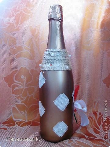 Бутылка с розой фото 3