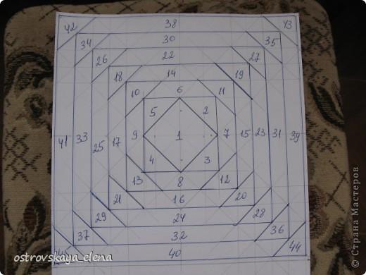 Этот способ шитья ОЧЕНЬ облегчает создание узоров любой сложности в технике лоскутного шитья, острые углы, мелкие мотивы, и пр. Шьем на бумажной основе, можно использовать любую бумагу, я простую офисную использую. фото 12