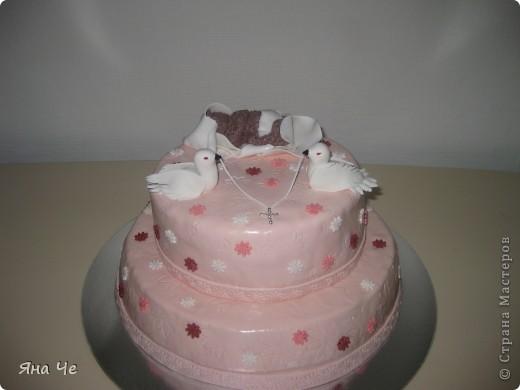 Подобный в голубом цвете я уже делала, а этот тортик - девчачий  фото 1
