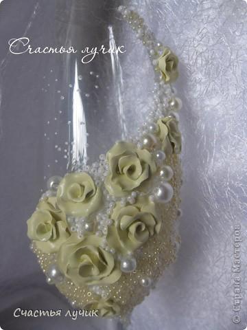 """Свадебные бокалы """"Лимонная Шампань"""" фото 4"""