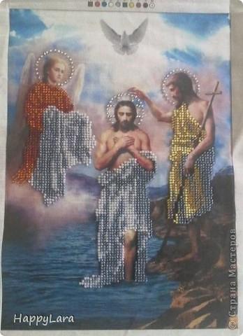 Св. Николай Чудотворец вышит был в подарок маме фото 5