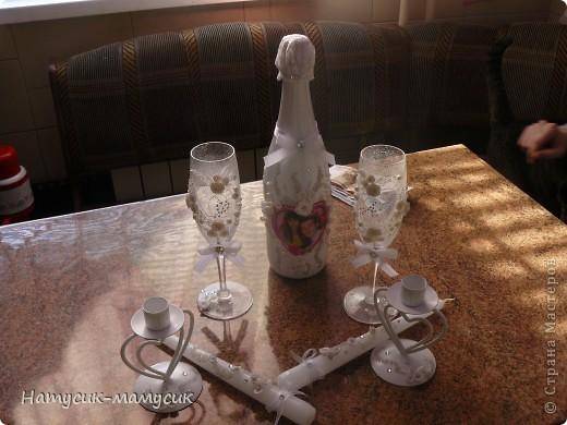 Мой первый свадебный заказ. Извините за качество и за фон. Молодожёны уже требовали))) заказ отдать, ну а я быстренько фотала.))) фото 1