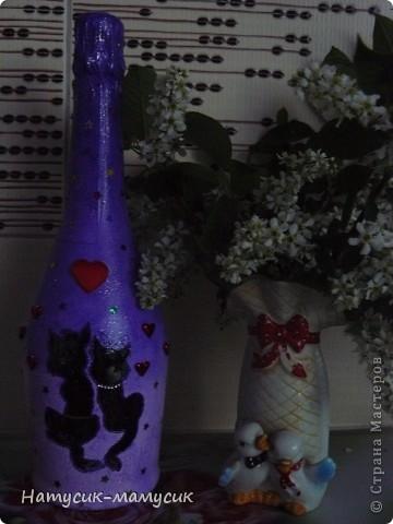 Заказали бутылку на романтик!!! Вот что вышло! Это фото без вспышки - так лучше передан цвет. фото 1