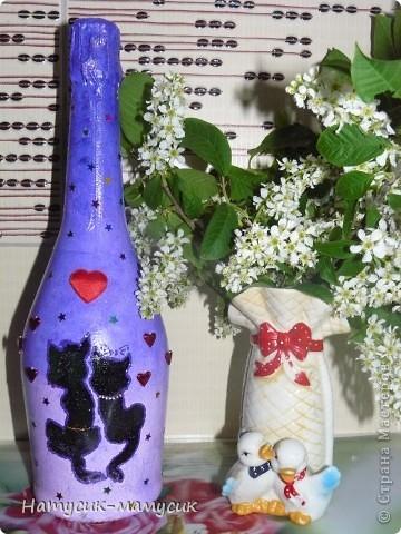 Заказали бутылку на романтик!!! Вот что вышло! Это фото без вспышки - так лучше передан цвет. фото 2