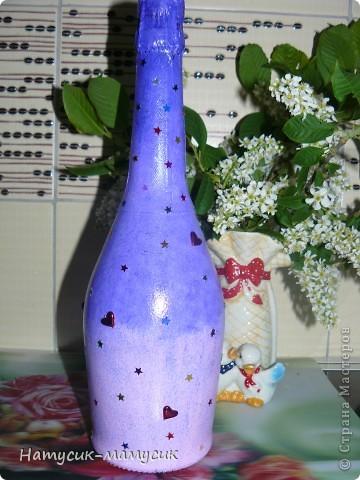 Заказали бутылку на романтик!!! Вот что вышло! Это фото без вспышки - так лучше передан цвет. фото 5
