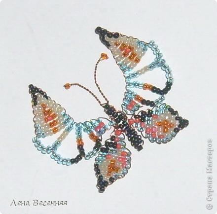 Доброго времени суток Всем!!!  Эту бабочку сделала как образец  для одного замечательного, творческого человека.  По этому образцу уже сплетено много красивых бабочек. Может и Вам пригодиться!?  фото 2