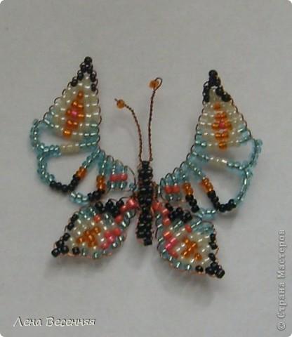 Доброго времени суток Всем!!!  Эту бабочку сделала как образец  для одного замечательного, творческого человека.  По этому образцу уже сплетено много красивых бабочек. Может и Вам пригодиться!?  фото 1