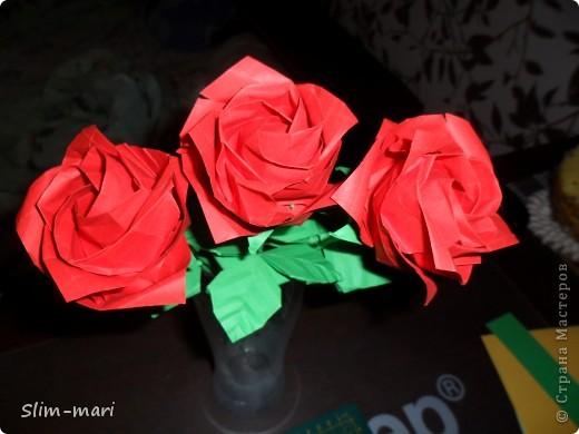 Эти розы я сделала для подружки на день рождения. фото 2