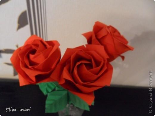 Эти розы я сделала для подружки на день рождения. фото 3