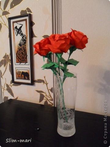 Эти розы я сделала для подружки на день рождения. фото 1