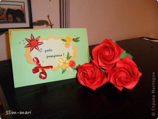 Эти розы я сделала для подружки на день рождения. фото 4
