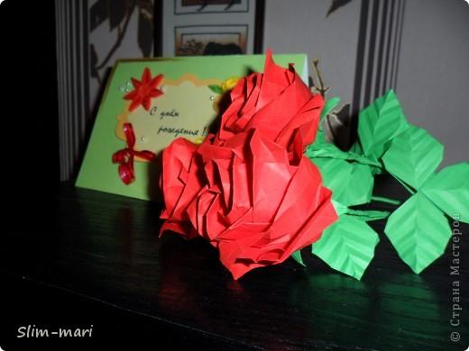Эти розы я сделала для подружки на день рождения. фото 5