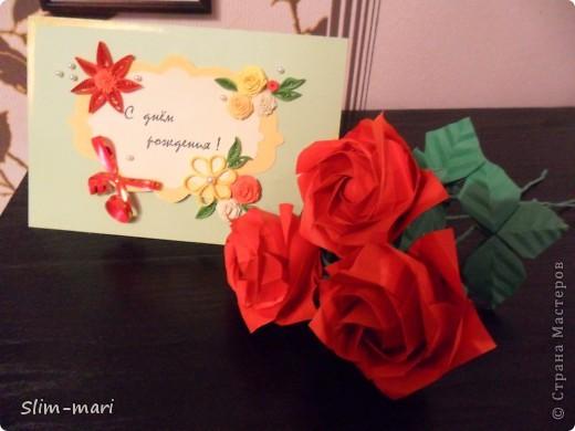 Эти розы я сделала для подружки на день рождения. фото 6