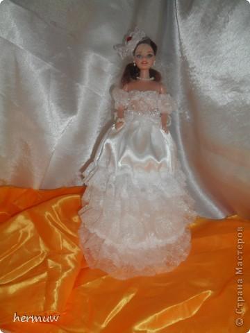 моя вторая кукла,невеста давно мечтала её сделать ждала пока муж подарит швейную машинку и вот наконец то )))))))) фото 2