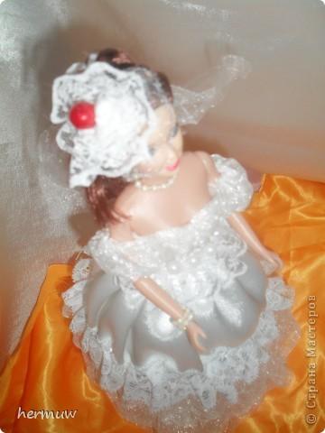 моя вторая кукла,невеста давно мечтала её сделать ждала пока муж подарит швейную машинку и вот наконец то )))))))) фото 4