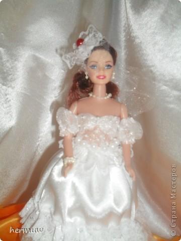 моя вторая кукла,невеста давно мечтала её сделать ждала пока муж подарит швейную машинку и вот наконец то )))))))) фото 8