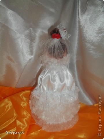 моя вторая кукла,невеста давно мечтала её сделать ждала пока муж подарит швейную машинку и вот наконец то )))))))) фото 3