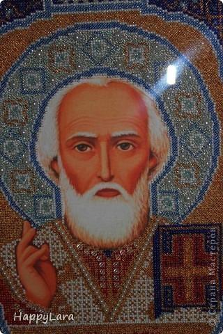 Св. Николай Чудотворец вышит был в подарок маме фото 2