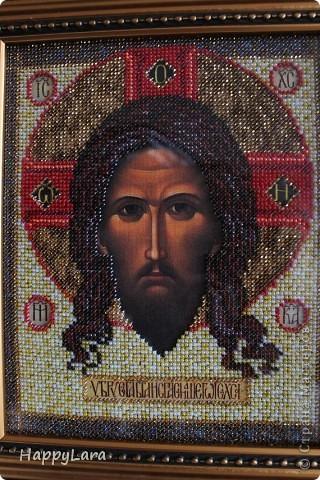 Св. Николай Чудотворец вышит был в подарок маме фото 4