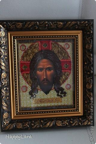 Св. Николай Чудотворец вышит был в подарок маме фото 3